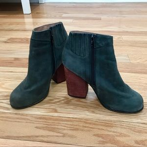 Gray Suede Jeffrey Campbell Hanger Ankle Booties